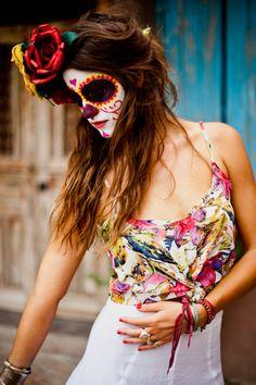 Dia De Los Muertos Costume | Black eyes