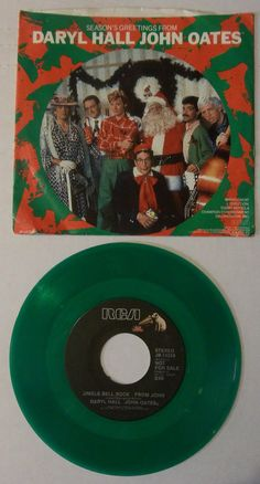 "DARYL HALL & JOHN OATES ""JINGLE BELL ROCK"" PROMO CHRISTMAS RECORD - GREEN VINYL"