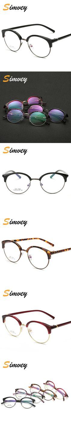2f7e17b8d3 Simvey 2017 New Retro Designer Unisex Small Round Half Frame Eye Glasses  Korean Clear Fashion Optical