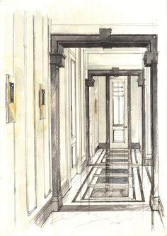 David Collins Studio, The Peak house entrance, Hong Kong