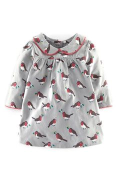 Mini Boden Pretty Collar Jersey Dress (Baby Girls) available at #Nordstrom