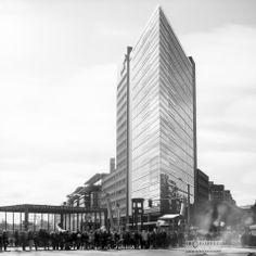 '60″ slices of present' Potsdamer Platz, Berlin - by Robert Herrmann