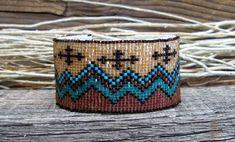 .Southwestern Beaded Cuff Bracelet 2440
