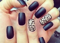 Beautiful new year's nail, Beige and black nail designs, Business nails, Evening nails, Evening short nails, Ideas of matte nails, Manicure on the day of lovers, Matte black nails