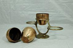 Machine Age Chase Brass Tom Thumb Plant Pots Tri Plant Stand Harry Laylon 1930s   eBay