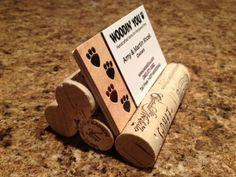 Wine cork business card holder! more gift ideas #MacGrillHalfPricedWine
