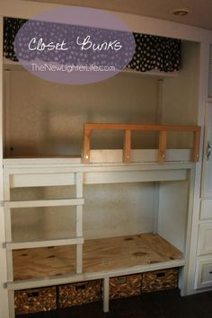 RV Bunk Remodel ~ Turning a Class A Master Bedroom in a Bunkroom