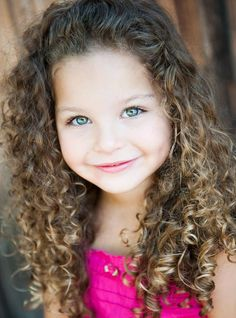Cute  Little Girl with Curls ♥