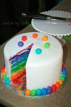 Bella{blue}: birthdays - rainbow cake!