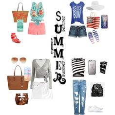 Summer is Here by fromphilly on Polyvore featuring polyvore, fashion, style, Zimmermann, DKNY, Twenty, Wildfox, Frame Denim, AG Adriano Goldschmied, Marc by Marc Jacobs, J.Crew, Frye, Converse, Kiss & Tell, Aéropostale, Coach, MICHAEL Michael Kors, Vera Bradley, Kate Spade, Tommy Hilfiger, Casetify and Relic