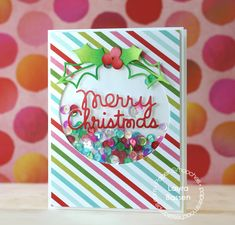 Paper Smooches-Merry Christmas & Holly dies | by L. Bassen