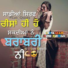 Nav jivan Punjabi Status Attitude, Attitude Status, Punjabi Ghaint Status, Girly Quotes, True Quotes, Words Quotes, Quotes Pics, Old School Quotes, Punjabi Captions