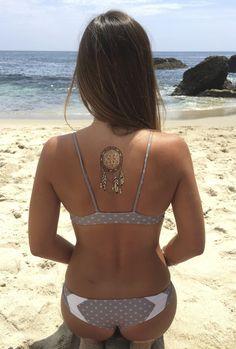 Dream catcher Metallic Tattoo Tribal Collection Shop Modern Boho. Love these flash tattoos. Metallic Tattoos. The Dream Catcher in the middle of the back is such a cute idea!