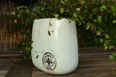 Blumentöpfe & -vasen - Jardiniere aus Keramik, glasiert, zartes Türkis - ein Designerstück von Vintage-Romance bei DaWanda