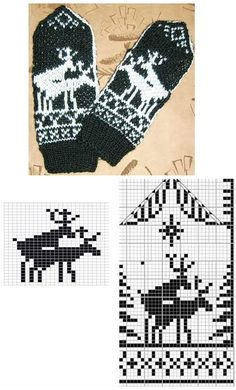 Knitting Charts, Knitting Stitches, Knitting Patterns Free, Crochet Patterns, Mittens Pattern, Knit Mittens, Knitting Socks, Norwegian Knitting, Knit Art