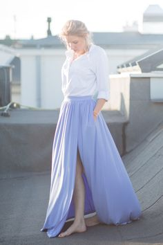 THE FOREVER SKIRT blue