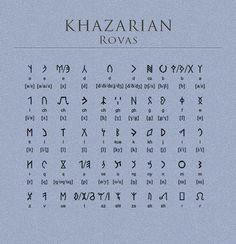 "Khazarian Turkic ""Rovas"" for more information: http://www.omniglot.com/writing/khazarianrovas.htm"