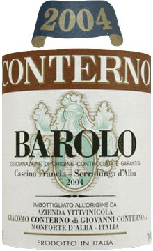 Conterno Barolo Cascina Franci. A wine that keeps for years and gets better and better