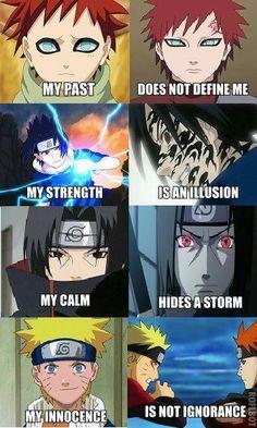 Gaara Sabakuno, Sasuke Uchiha, Itachi Uchiha and Naruto Uzumaki Naruto Uzumaki, Anime Naruto, Manga Anime, Got Anime, Naruto And Sasuke, Gaara, Kakashi, I Love Anime, Awesome Anime