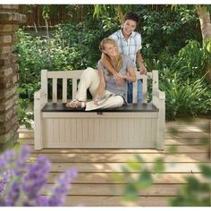 Deck Box Outdoor Storage Patio Garden Yard Pool Bench Furniture 70 Gallon New Patio Storage Bench, Patio Bench, Patio Seating, Garden Seating, Outdoor Storage, Seat Storage, Box Storage, Bench Seat, Outdoor Benches