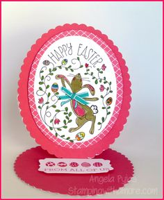 Happy Easter Bunny Easel Card