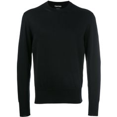 Tom Ford round neck jumper ($990) ❤ liked on Polyvore featuring men's fashion, men's clothing, men's sweaters, blue and tom ford