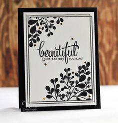 Hand stamped card by Betty Wright using the New Mercies set and Beautiful Plain Jane from Verve. #vervestamps