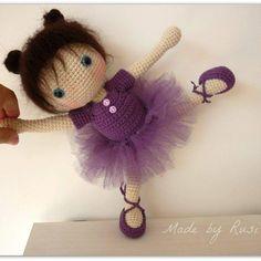 Crochet ballerina doll. (Inspiration).                                                                                                                                                                                 More