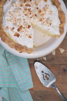 Classic Coconut Cream Pie Recipe •theVintageMixer.com #pie from @vintagemixer