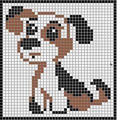 Схема рисунка - плетение щенка