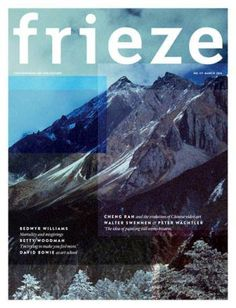 #MagLove 4 March 2016 — the best magazine covers this week — Frieze, March 2016.