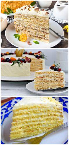 Восхитительно нежный торт «Молочная девочка» Cake Videos, Trifle, Food Inspiration, Cooking Tips, Food And Drink, Baking, Sweet, Ethnic Recipes, Desserts