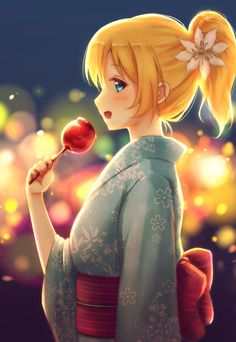 This is fan art. Ayase Eri of Love Live! painted by fal.