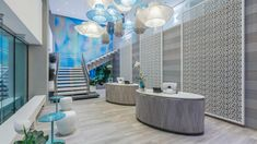 The Serafina Beach Hotel Celebrates the Sand and Surf Culture of San Juan, Puerto Rico - Design Milk Hotel Lobby Design, Beach Hotels, Hotels And Resorts, Beach Resorts, San Juan Hotels, Lobby Lounge, Most Luxurious Hotels, Rico Design, Lobbies