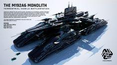 M192A6 Monolith Terrestrial Mobile Battlestation by Duskie360.deviantart.com on @DeviantArt