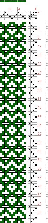 Hand Weaving Draft: Threading Draft from Divisional Profile, Tieup: , Draft #104, Threading: Weber Kunst und Bild Buch, Marx Ziegler, (1677)...