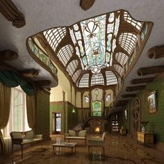 Decorative Rocks Ideas : new reading of the Art Nouveau - Art Deco Architecture Design, Architecture Art Nouveau, Art Nouveau Interior, Design Art Nouveau, Organic Architecture, Beautiful Architecture, Beautiful Buildings, Art Nouveau Furniture, Ancient Architecture