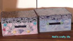 Neli's crafty life: Remaking an old non woven box II/Μεταποίηση παλιο. Decoupage, Decorative Boxes, Sweet Home, Crafty, Life, Home Decor, Decoration Home, House Beautiful, Room Decor