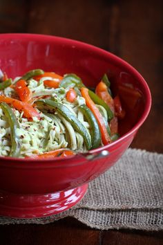 This Poblano Pepper Cream Sauce and Pasta from The Vegan 8 looks particularly delicious in our Cambria Footed Bowl