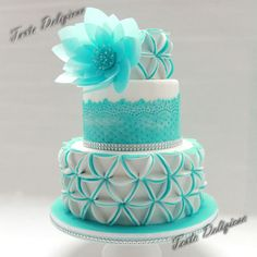 www.cakecoachonline.com - sharing... Precious in Blue amazing cake