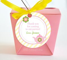 Personalized Tea Party Favor Tag - Personalized DIY Printable Digital File on Etsy, $6.50