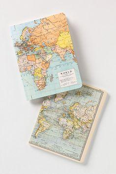 Vintage Map Notebooks - Anthropologie.com