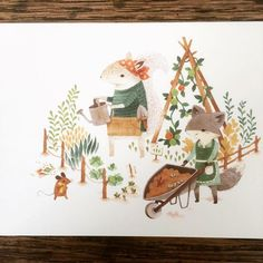 New cards just arrived at Thistle & Weeds. Open until 4pm. #thistleandweeds #teaganwhite #bettyanddupree #teaganwh #shrewsburymarkethall #adventureswithbarefootcritters #animalillustration