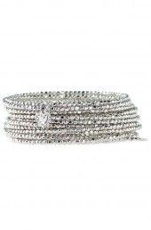 Bardot Spiral Bangle Bracelet in Silver...get this beautiful piece at www.stelladot.com/CaraAndAshley