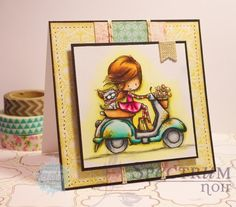 Tiddly Inks Challenge: Fab Friday and winners of our So Sweet challenge. Cute Cards, Diy Cards, Spectrum Noir Markers, Tiddly Inks, Ink Stamps, Copics, Homemade Cards, Making Ideas, Cardmaking