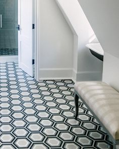 Love this tile @joannabgoodman selected for the girls bathroom at the #christophershowhouse