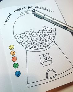 gum ball bullet journaling ideas