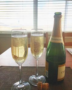 Only time to get away with too much champagne  #holiday #champagne #theusual #bubbles