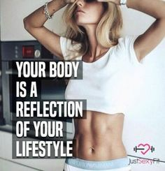 Your Body Is A Reflection Of Your Lifestyle (true) - fitness motivation - Fitness Fitness Goals Quotes, Weight Loss Motivation Quotes, Fit Girl Motivation, Fitness Tips, Female Fitness Motivation, Fitness Gear, Exercise Motivation, Sport Fitness, Fitness Tracker