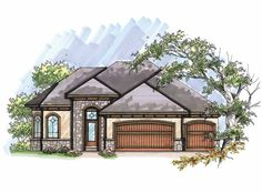 Eplans Ranch House Plan - Five Bedroom Ranch - 2707 Square Feet and 5 Bedrooms from Eplans - House Plan Code HWEPL65980